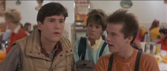 Charley (William Ragsdale), Amy (Amanda Bearse), and Evil Ed (Stephen Geoffreys)