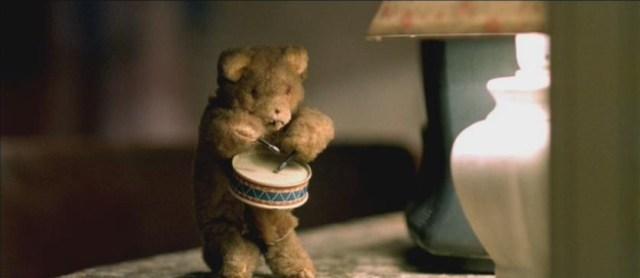 "A demonic drummer bear from ""High Tension."""