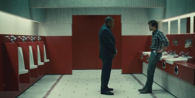 "Jack confronts Will in the bathroom from ""The Shining."""
